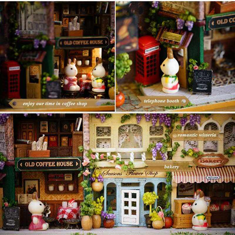 3D Деревянный DIY коробка ручной работы театральной кукольный домик миниатюрная шкатулка в счастливой углу милый Миниатюрный Кукольный дом собрать Наборы подарок игрушки