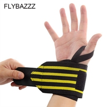 FLYBAZZZ Sports Wrist Band Wrist Support Strap Wrap Hand Sprain Wraps Bandage Fitness Weight Dumbbell Training Safety Hand Bands tmt wrist strap weight lifting hand wraps crossfit dumbbell powerlifting wrist support sport wristband bandage training safety