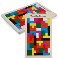 Хорошее качество деревянный тетрис головоломка Танграм Дерево Интеллект геометрический Форма Развивающие игрушки для детей Дети дошкольн...