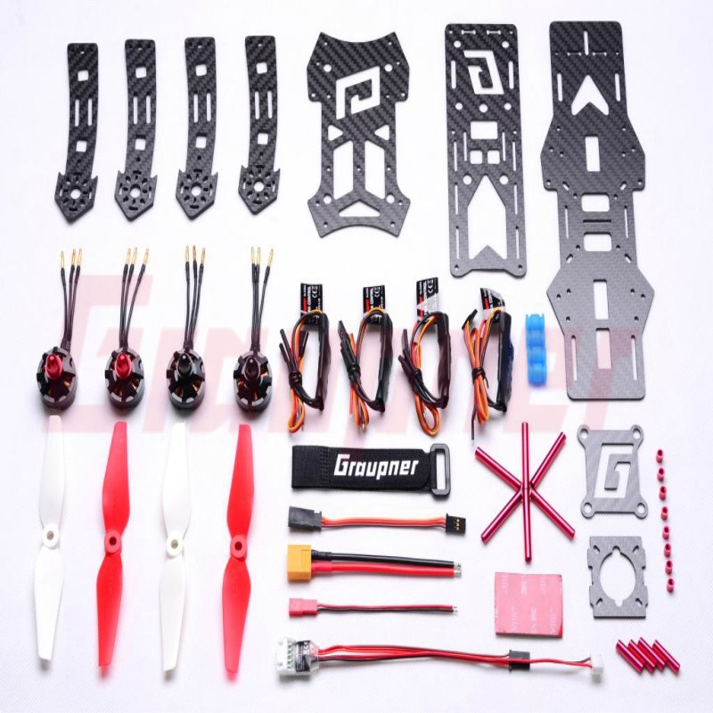 Graupner Alpha 250Q Race Copter Frame and Electronis