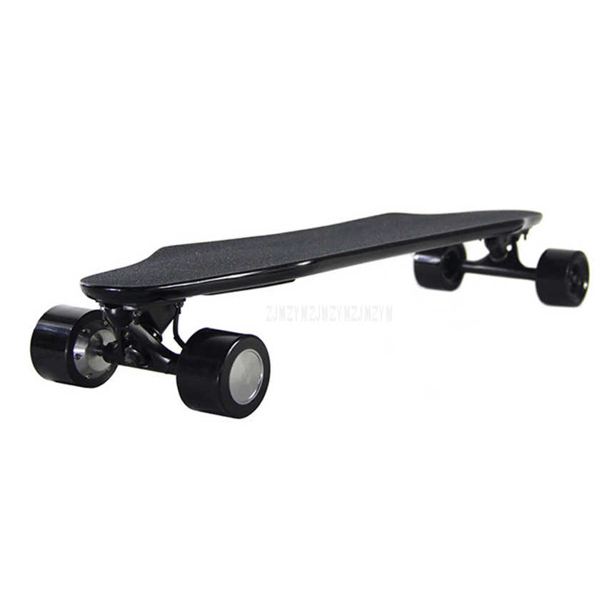 eec9c2d5ae66 Ultra-thin Four Wheel Electric Remote Control Double Motor Skateboard Adult  Scooter Wood Longboard Skate