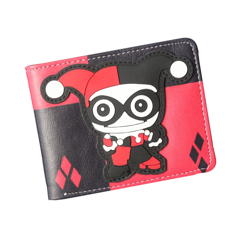 New Arrival Harley Quinn Anime Wallets Cartoon Purse Women Mens Wallet Short Slim High Quality Money Bags Photo Slot Card Holder купить