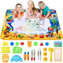 Водный коврик для рисования, большой Аква волшебный водный коврик для рисования, рисование, блокнот для письма, игрушка для обучения подарки для мальчиков, детей 100*70 см