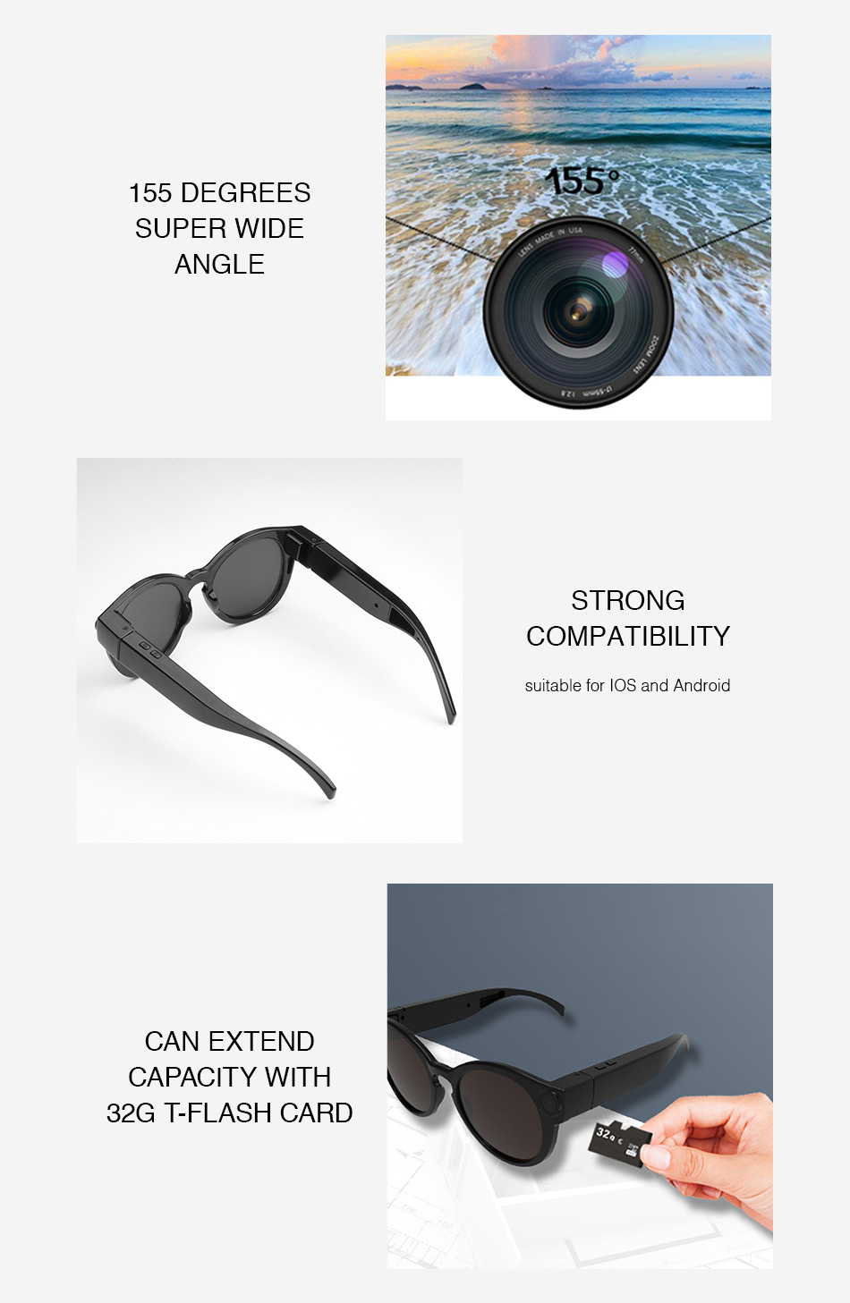 a11a3430f99d2 ET Digital Wifi Camera Sunglasses HD Glasses Eyewear DVR Video Recorder  1080P Snapshot Camera Sun Riding Glasses Mini Camcorder