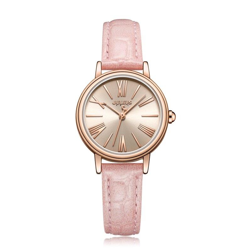 Julius uhr OL Damen Business Uhr Roma Anzahl Quarz Uhr Leder Band Mode frauen Uhr 30 mt Wasserdicht reloj JA 1082-in Damenuhren aus Uhren bei  Gruppe 1