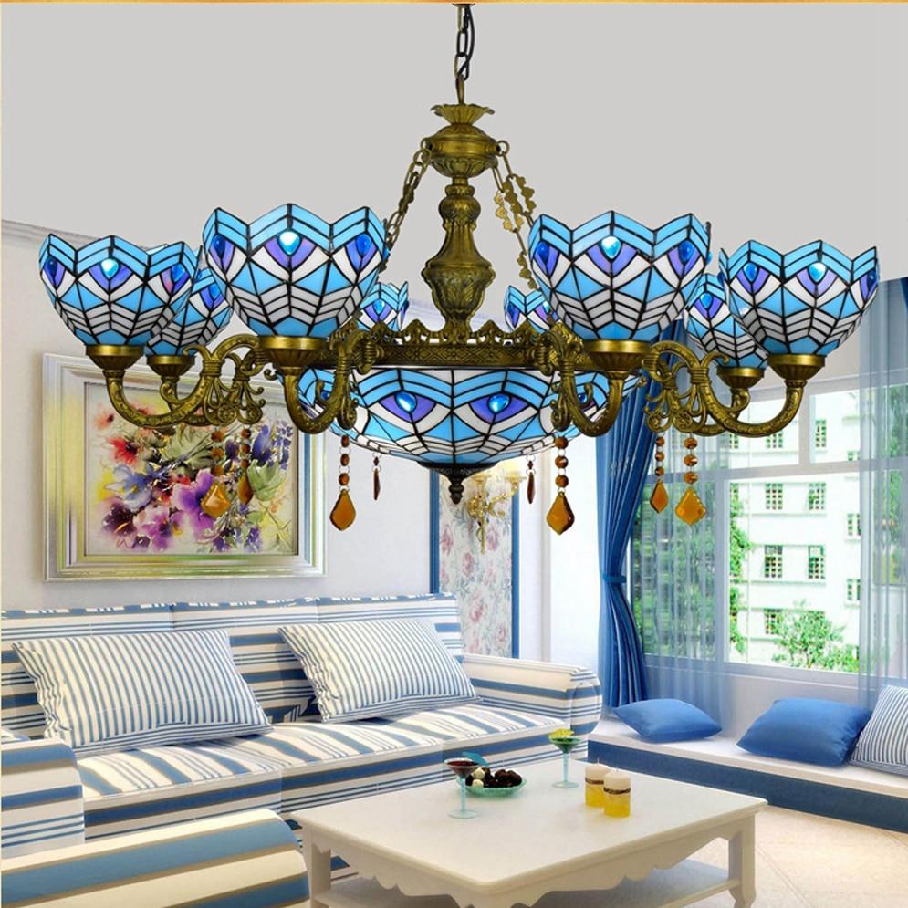 led e27 Středomořská slitinová skleněná LED lampa LED Light.Pendant Lamp.Pendant Lamp.Pendant Light Pro Jídelna Foyer Store Bar
