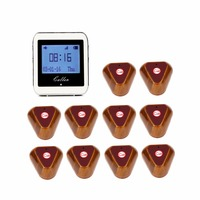 Wireless Restaurant Coaster Pager Watch Calling Button Receiver Pager System For Hospital Waiter Nurse 433MHz F3288B
