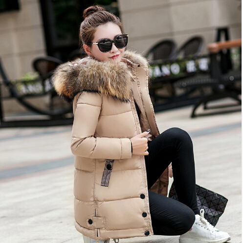 Winter Jacket Women   Parka   2019 New Winter Down Jacket Casual Loose Warm Thick Big Fur Collar Hooded Jacket Oversized Female Coat