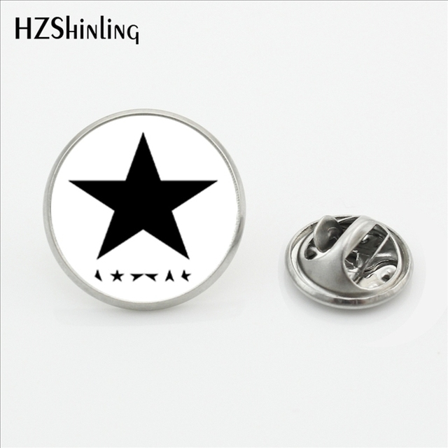 2017 New Design Bowie Star Collar Pin Brooch Fashion Pins David Bowie Famous Bri