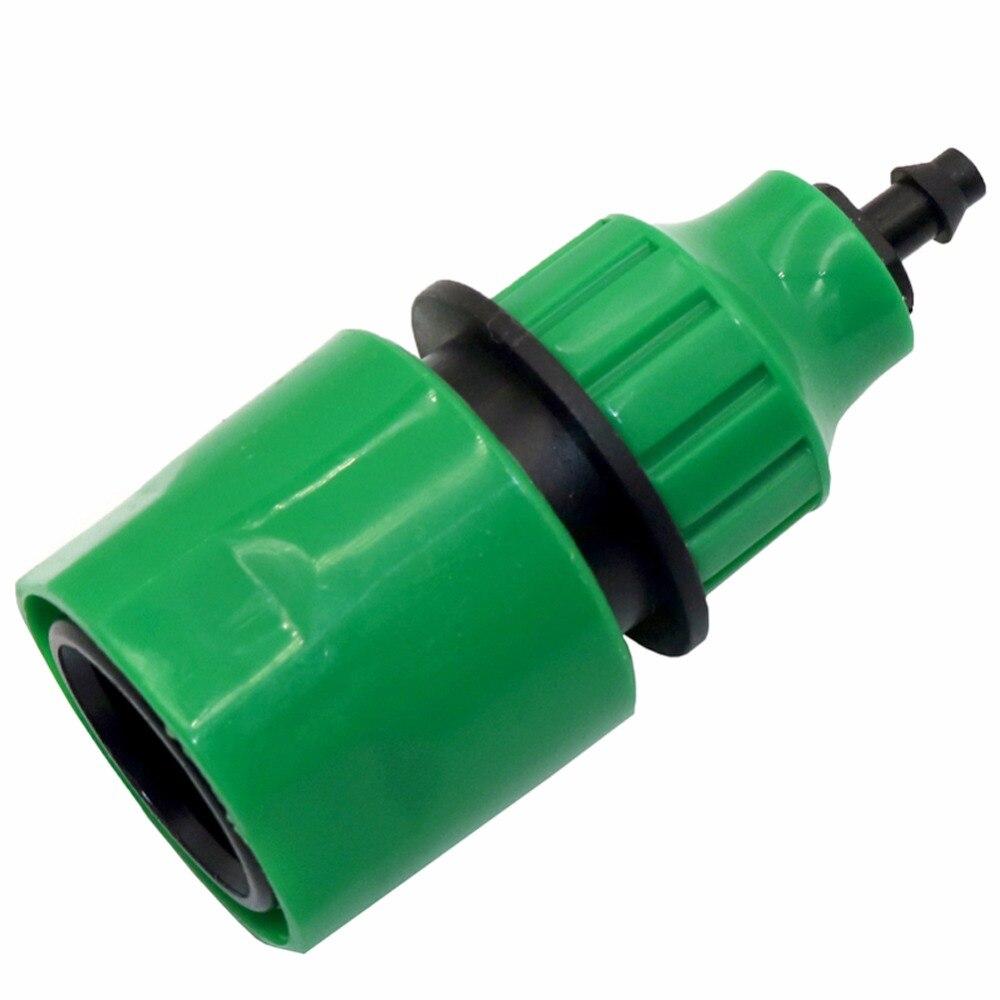 2 pces adaptador de acoplamento rápido gotejamento fita para irrigação mangueira conector com 1/4