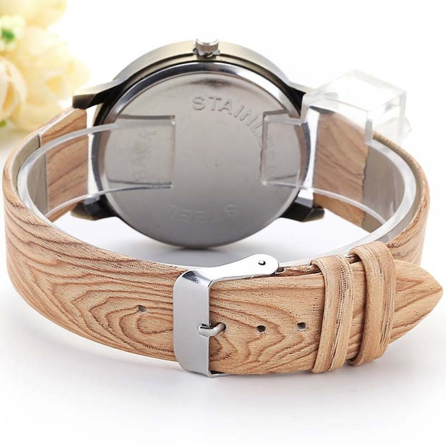 Wood Stripe Pattern Wrist Watch 5