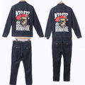 2016 New Street casual male trousers long-sleeve bodysuit clothes vintage jumpsuit male men's clothing tide dj singer costumes