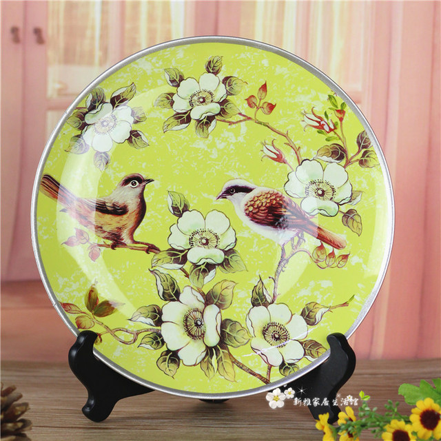 sparrow flowers decorative wall dishes porcelain decorative plates ...