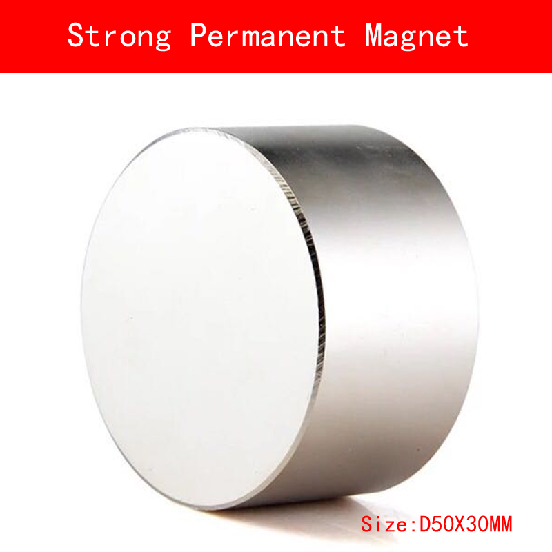 NEUE 1 stücke N52 neodym-magnet D50x30mm super starke runde magnete Rare Earth 50*30mm N52 stärksten dauermagneten leistungsstarke magnet