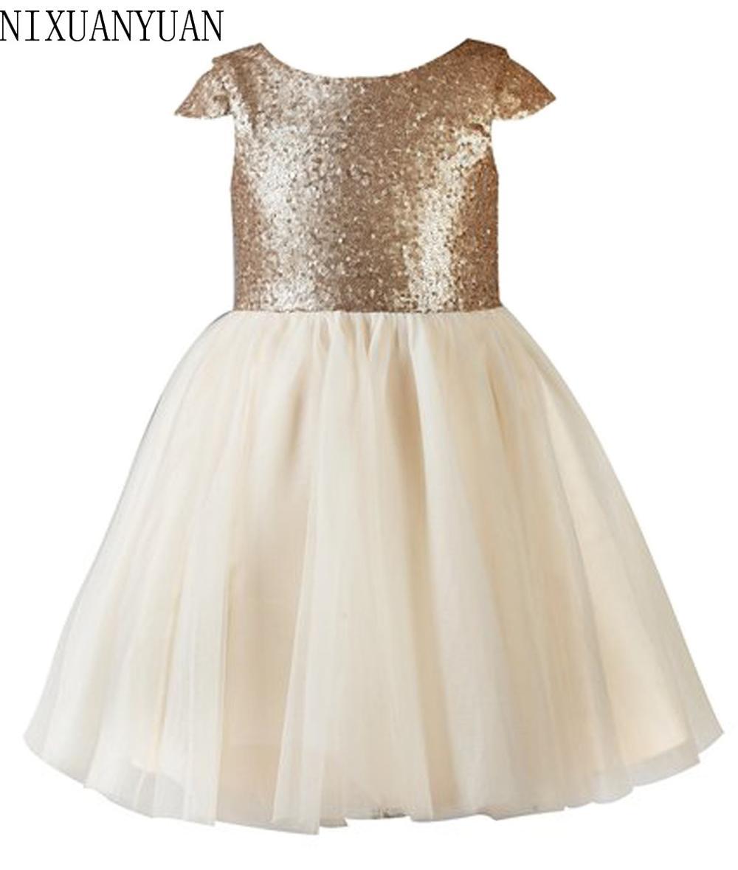 Тюль, цвет Шампань девочек Нарядные платья выпускного вечера детская с лямкой на шее для девочек 10 до для детей 12 лет для девочек длинные вечерние платья Пользовательские - Цвет: Шампанское