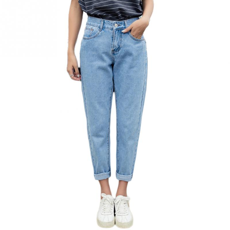 Nowe smukłe spodnie ołówkowe Vintage wysokiej talii dżinsy nowe spodnie damskie luźne spodnie kowbojskie imitacja dżinsów