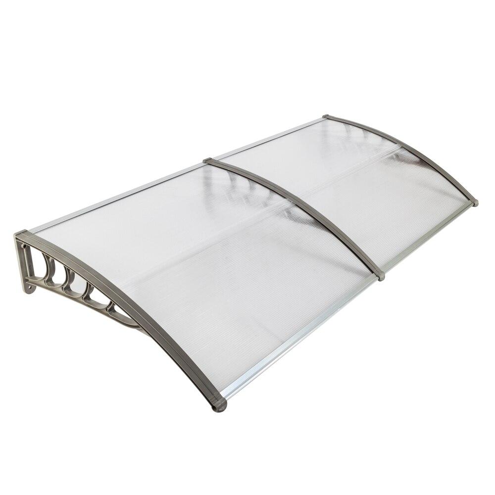 Gazebos Alert Ht-200 X 100 Household Door And Window Rain Cover Canopy Silver Gray Bracket For Sale Garden Supplies