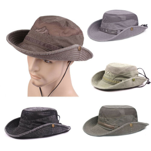 NEW Bucket Hat Summer Men Women Sun Hats Boonie Hunting Fishing Outdoor Cap Unisex Washed Cotton Fashion 2019 Sunhat