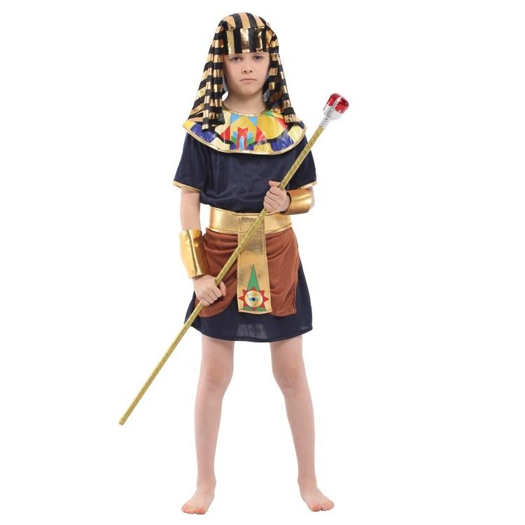 Shanghai Story Kids Egypt Pharaoh cosplay costume Boy Halloween Full Set Cosplay Party Dress for Children