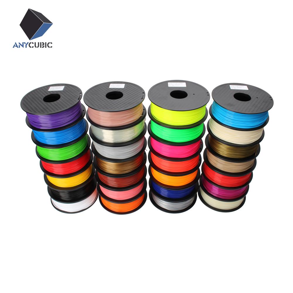 Prix pour Anycubic 3D imprimante filament PLA 1.75/3.0mm 1 kg en plastique Caoutchouc Consommables Matériel 28 couleurs de sortes pour vous choisir