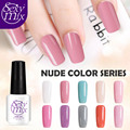 Sexy Mix Nude Colors Series Gel Nail Polish Varnish Professional UV Builder Gel Long-lasting French Nail Art Design Lacquer 7ML