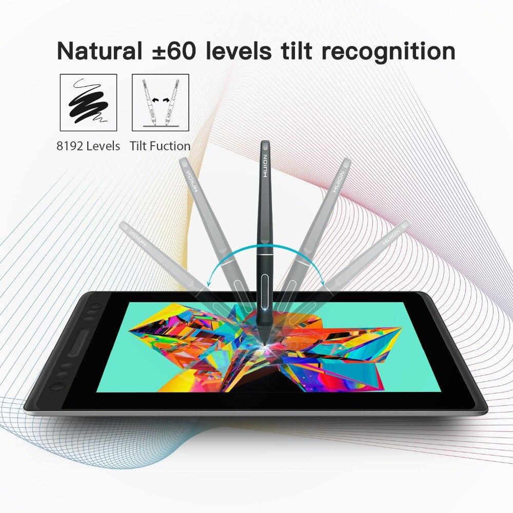 HUION KAMVAS Pro 13 GT-133 stylo tablette moniteur numérique tablette sans batterie stylo affichage dessin moniteur avec inclinaison Func AG verre - 2