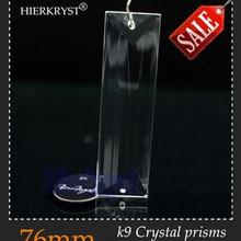 """HIERKYST 1 шт. K9 стеклянные подвески-призмы с кристаллами люстры части люстры Радуга лампа освещение висят капли 76 мм """"#1950"""