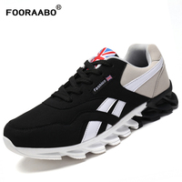 FOORAABO Spring Autumn Mens Casual Shoes Outdoor Trainers Male Walking Shoes Breathable Sport Men Blade Shoes