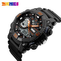 New Sports Watches Men SKMEI Brand Dual Time Zone LED Quartz Watch Men Waterproof Alarm Chronograph