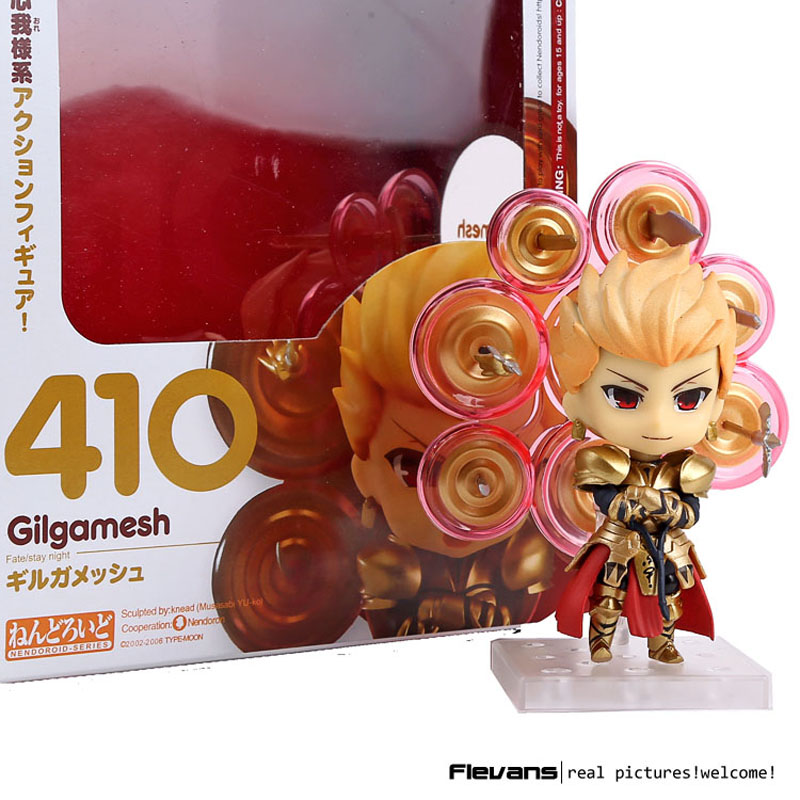 ФОТО anime fate/stay night nendoroid gilgamesh 410 pvc action figure collectible model toy 10cm mnfg073