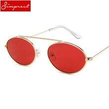 b049542b52e5e SIMPRECT 2018 Pequeno Oval Óculos De Sol Das Mulheres de Metal Retro Quadro  Óculos de Sol de Luxo Da Marca Designer Vintage ócul.