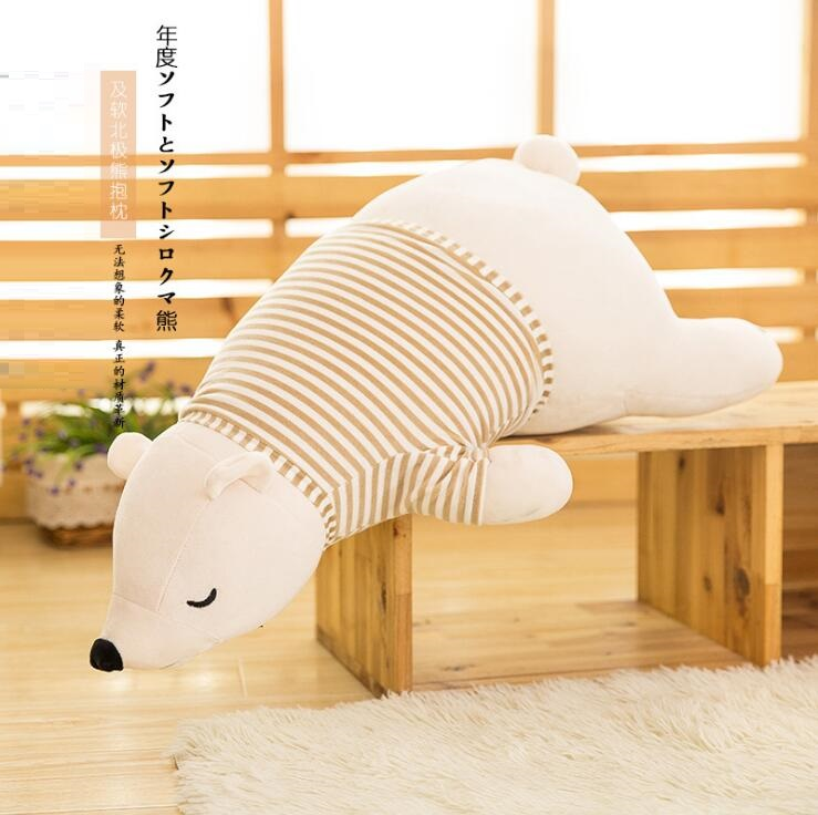 Stuffed Plush Polar Bear PP Cotton Animal Toys for Children Kids Birthday Gifts Soft Cushion Pillow Large Car Doll 50cm 90cm in Stuffed Plush Animals from Toys Hobbies