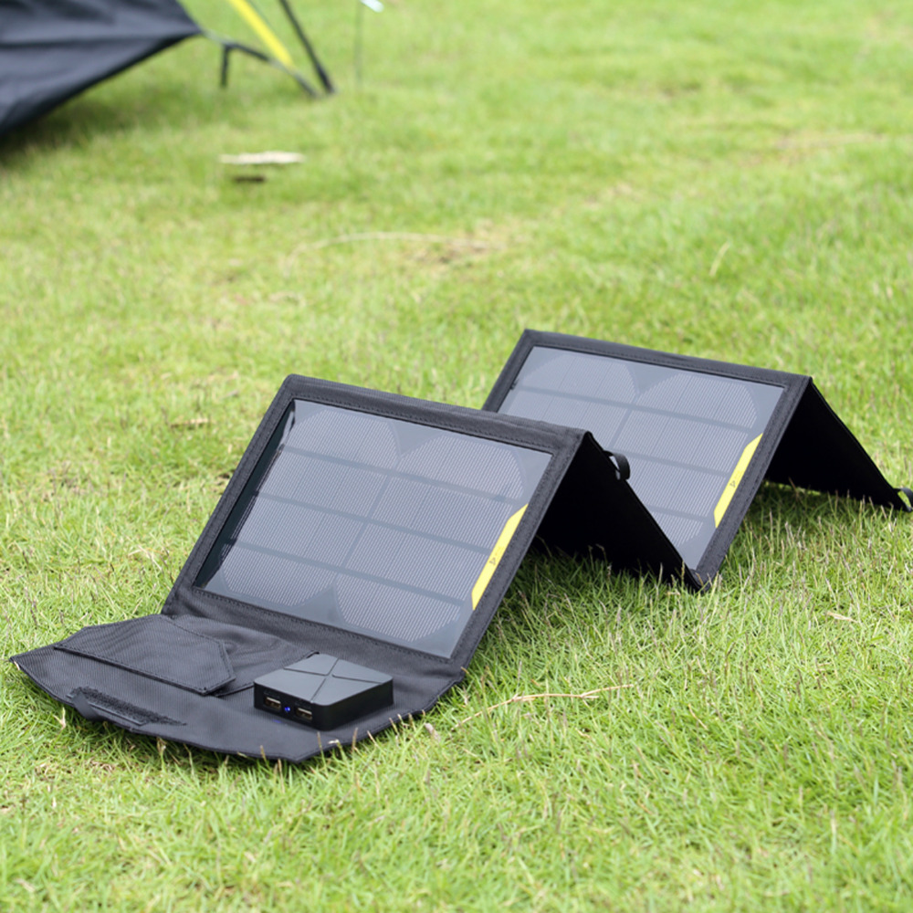 Portable Folding 5V 15W Dual USB Port Solar Charger Mobile Phone Power for MP3 MP4 GPS Camera Game Solar Panels Outdoor Charging portable outdoor solar charger mobile phone mobile power supply folding expedition 5v charging board