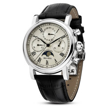 Leisure Automatic Mechanical Genuine Leather Waterproof Watch with Rome Digital Business for Various Occasions m199s
