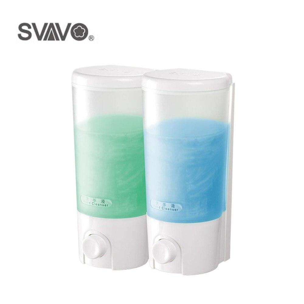 Bathroom Accessories Wall Mounted Double Liquid Soap Dispenser Hand ...