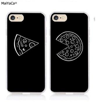 5f655525bbf Pizza mejores amigos amor par BFF silicona suave funda transparente de  teléfono para iphone 5s se 6 6s 6plus 7 7 plus 8 8 plus X XR XS.