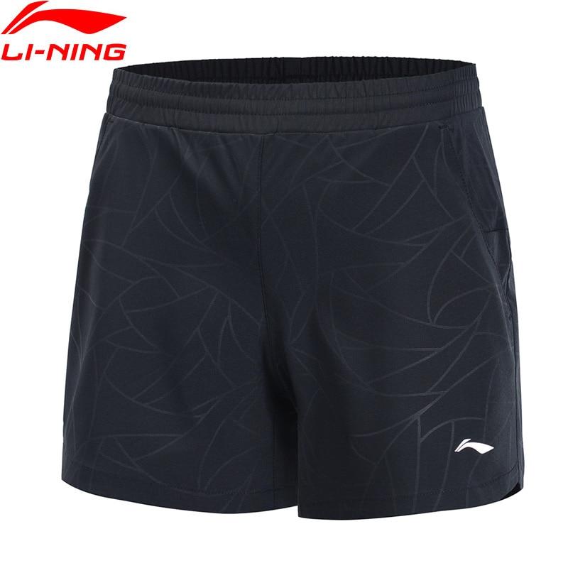 (Break Code)Li-Ning Women Training Sports Shorts 100% Polyester Regular Fit Li Ning LiNing Fitness Sport Shorts AKSP016 WKD613