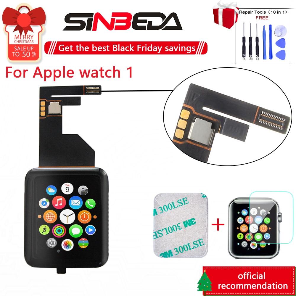 Sinbeda Sport & saphir pour Apple Watch 1st Gen Series 1 38mm 42mm LCD écran tactile numériseur pour Apple Watch 1 S1