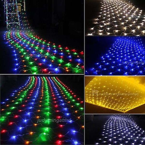 15x15m net lights led string strip fairy lights garland for wedding christmas party - Christmas Lights Clearance Online