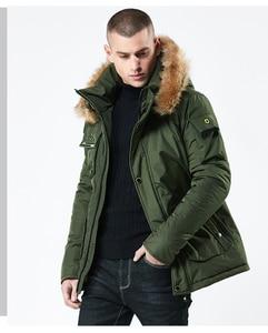 Image 2 - Mwxsd brand Men winter warm hooded jacket and coat mens fur thick military zipper parkas warm overcoat jacket