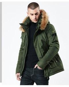Image 2 - Mwxsd chaqueta y Abrigo con capucha de invierno para hombre, parkas de piel gruesa con cremallera militar, abrigo cálido