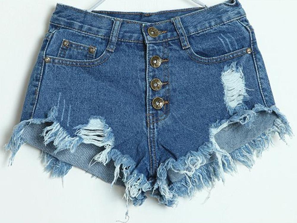 women short jeans denim hot pants high waist shorts casual. Black Bedroom Furniture Sets. Home Design Ideas
