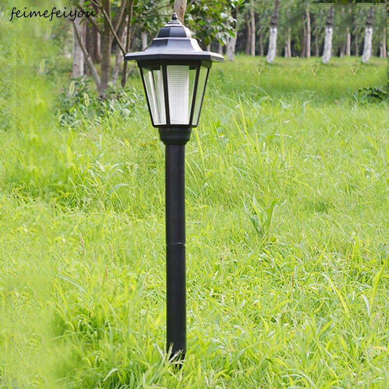 Feimefeiyou جديد مقاوم للماء مصدر للطاقة الشمسية في الهواء الطلق مصابيح الحديقة LED بقعة ضوء حديقة مسار المشهد أضواء الديكور lumaria الشمسية