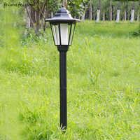 Feimefeiyou-Lámparas de césped de energía Solar para exteriores, impermeables, foco LED para jardín, decoración de paisaje, Luminaria Solar