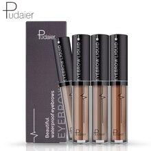 Pudaier New Brand Eye Brow Tint Cosmetics Природный долговечный краска для бровей Водонепроницаемый черный коричневый гель для карандашного брови для бровей