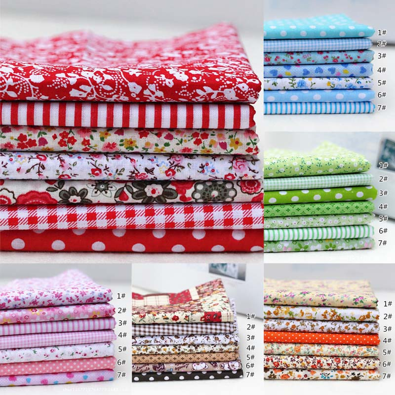 Sewing Patchwork Floral Print 100% Cotton Fabric Mixed Style Handmade DIY High Quality Cloth Material Children Kids craft