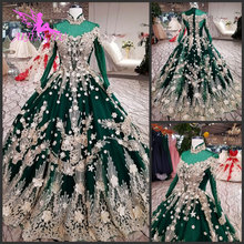 AIJINGYU suknie ślubne katedra importowane suknie brokat Vintage królowa prosta hiszpania Couture suknia ślubna Tule