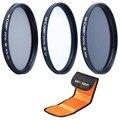 К & F Концепция 52 мм CPL Поляризатор УФ ND4 Комплект Фильтров Для Canon Sony Объектив Камеры Фильтр для Nikon D5300 D5200 D5100 D3300 D3200 D3100