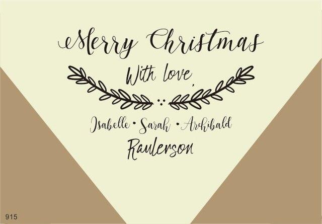 Auguri Di Natale Per La Famiglia.Personalizzato Biglietto Di Auguri Di Natale Timbro Nome Di Famiglia