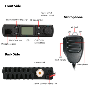 Image 2 - Radioddity CB 27 CB Radio Mobile 40 Channel AM Instant Emergency Channel 9/19 PA System RF Gain with Microphone License free